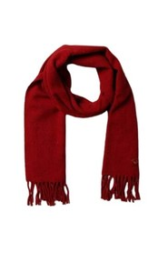 Cashmere wool scarf with embroidered logo