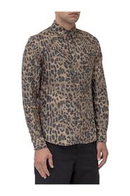 Shirt with Leopard-Skin Print