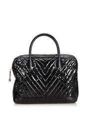 Patent Leather Chevron Business Bag