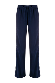 Sequin stripe track trousers