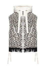 Vest with wool insert