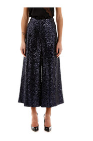 Sequined culotte trousers