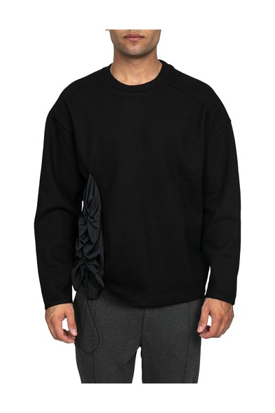 System Black Sweater Sweatshirts - Sort