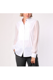 Karl lagerfeld pleated bib shirt