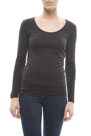 Claesens Ladies T-shirt round neck l/s Black