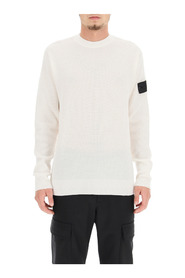 shadow project textured wool blend crewneck sweater