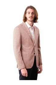 SINGLE-BREASTED HERRINGBONE LINEN JACKET