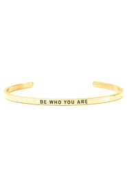 Armring med tekst - BE WHO YOU ARE - 7178