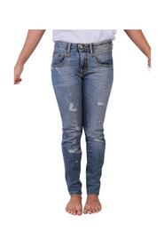 pre-owned Distressed Skinny Jeans Blue Condition Very Good