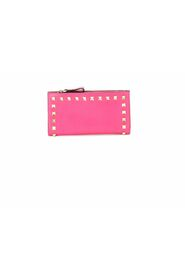 Pre-owned Wallet in pink calfskin leather
