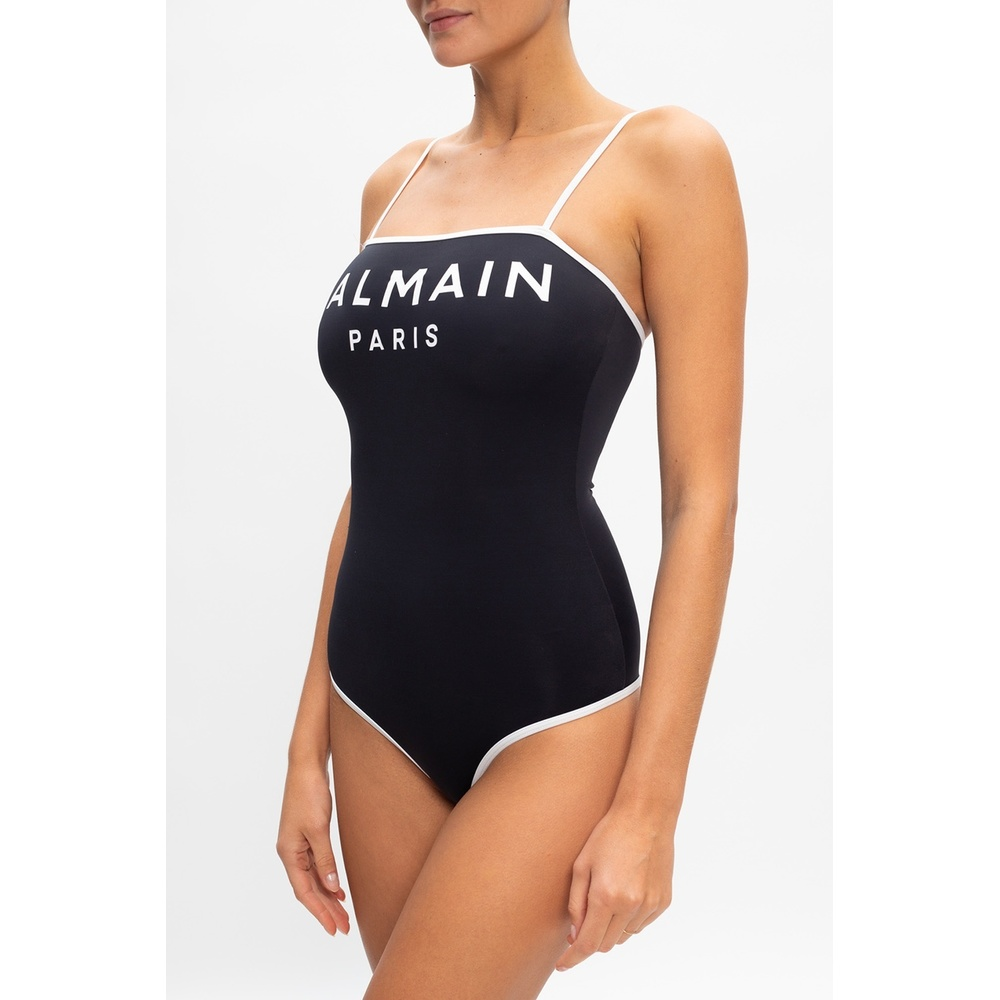 Balmain Black One-piece swimsuit with logo Balmain