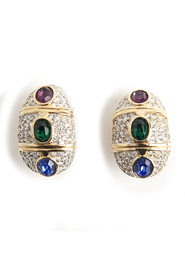 Opulent colorfull clip on earrings