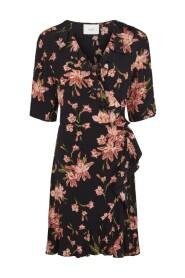 Svart Just Female Oline Wrap Dress