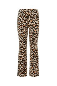 Flared trousers leopard printed