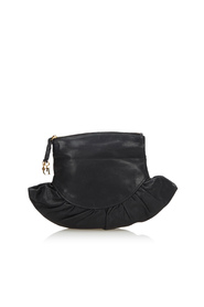 Leather Gipsy Foldver Clutch Bag