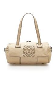 Cream Anagram Leather Shoulder Bag