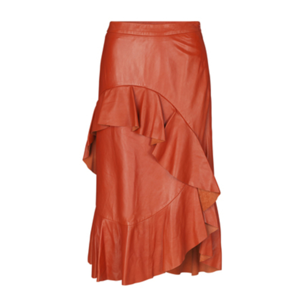 April Leather Skirt