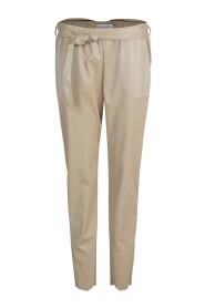 Trousers Faux Leather Stretch Alpaca