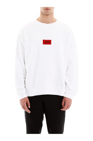 Logo patch sweatshirt