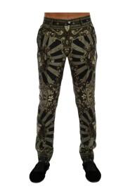 Carretto Print Silk Dress Pants
