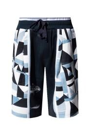 Patterned sweat shorts
