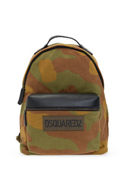 Backpack with camo print