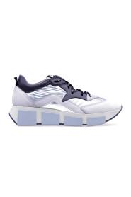Sneakers in nabuck e tessuto tecnico