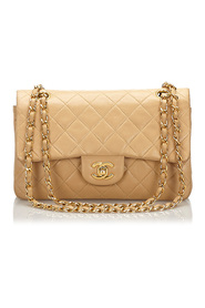 Classic Small Lambskin Double Flap Leather Bag