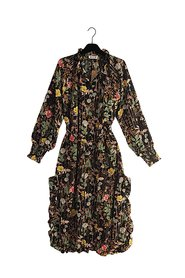 GISLING Oversized Flower Print Dress