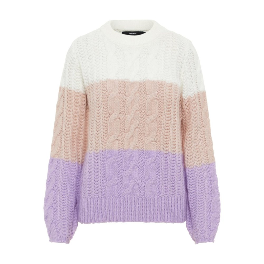 Knitted Pullover Colour Blocked