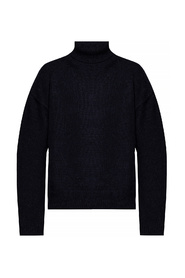 Patched turtleneck sweater