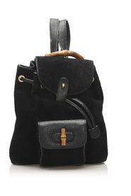 Bamboo Suede Backpack Leather