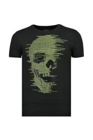 Skull Glitter - Carnaval T shirt Heren