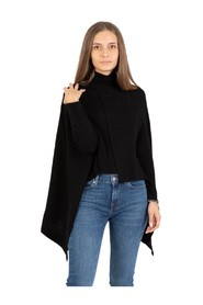 Closed turtleneck cape