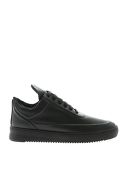 sneaker leather LOW TOP RIPPLE EMBOSSED ALL BLACK 2512760