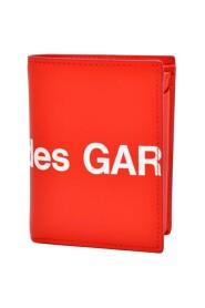 Portafogli Wallet Huge Logo in pelle rossa