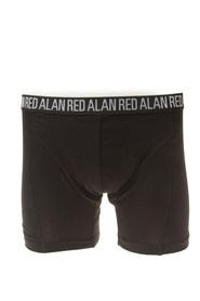 Alan Red Boxershort Long Leg Black ( 3 pack )