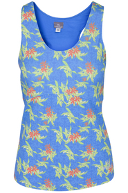 Keepitup Singlet Floral Turquoise