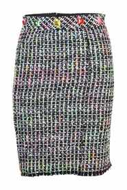 Fluo Tweed Knee Length Skirt -Pre Owned Condition Excellent