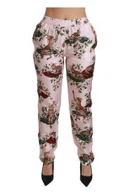 Bengal Cat Trousers Silk Pants
