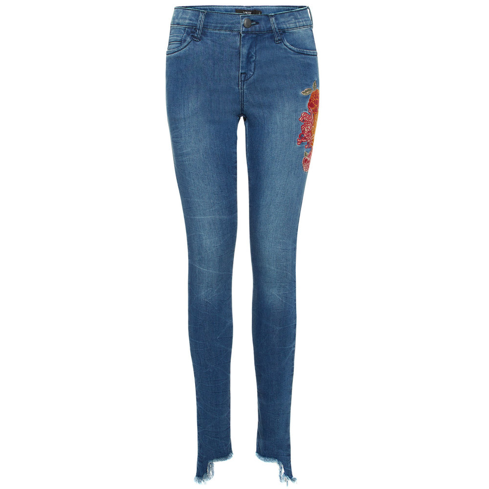 Skinny fit jeans floral embroidered