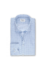 MEDALLION PATTERNED FITTED BODY SHIRT