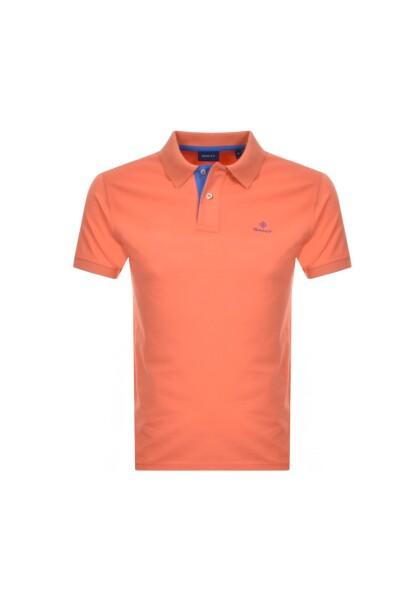 på grossist sneakers för billiga billigt till salu Orange Contrast Collar Pique T-Shirt | Gant | T-skjorter | Miinto.no