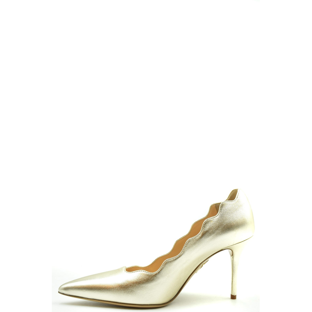 Charlotte Olympia Gold Décolleté Charlotte Olympia