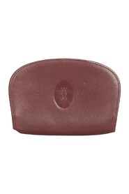 Brukt Red Must de Leather Coin Pouch