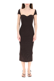 Beth ribbed knit midi dress