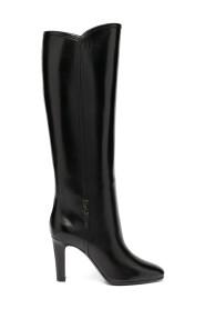 Jane monogram leather boots