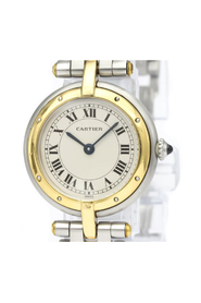 Pre-owned Cartier Panthere Round Quartz Stainless Steel