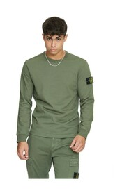 SWEATSHIRT IN SAGE PLUSH WITH PATCH