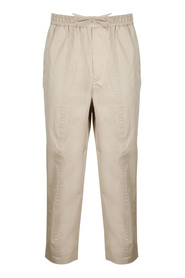 CARROT-FIT TWILL TROUSERS